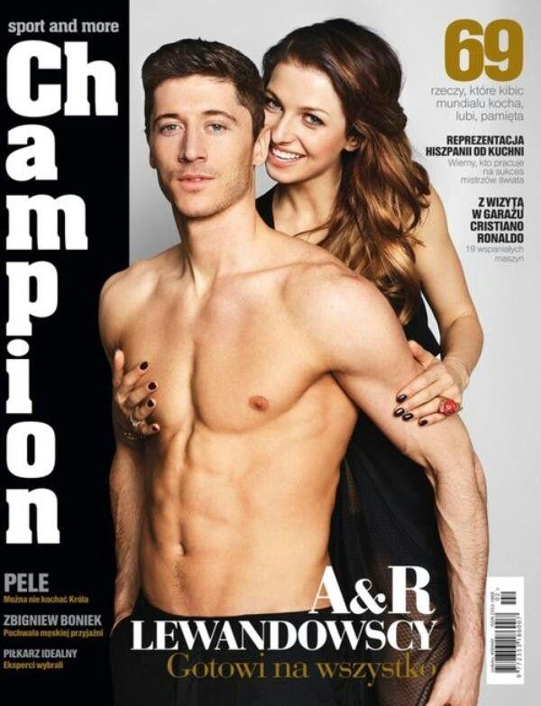 Robert Lewandowski and Anna Lewandowska. This is so hot. *_*