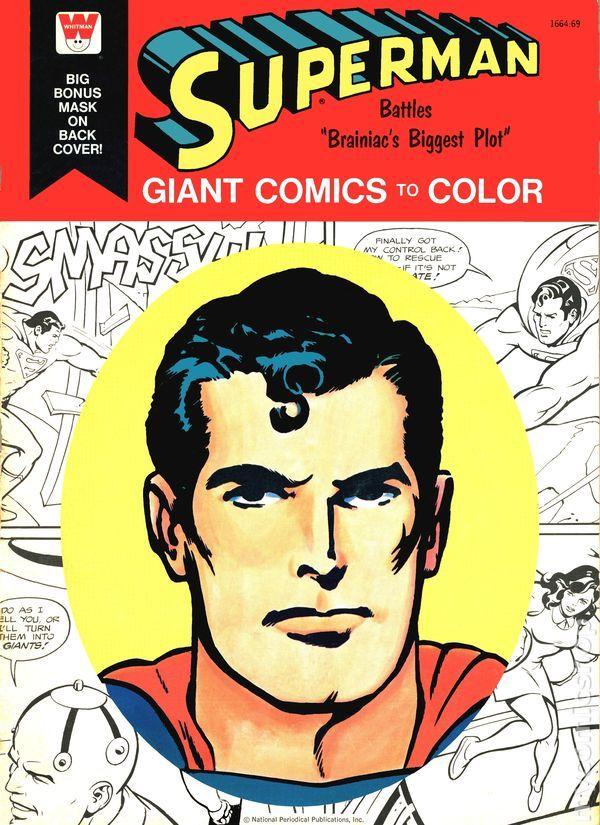 1976 Superman Braniac Biggest Plot Giant Comics To Color Whitman Coloring Book
