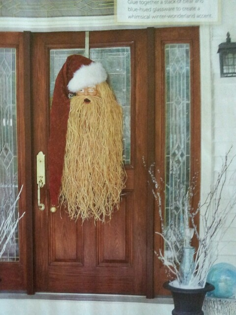 Country Sampler.. raffia beard.. Cute for door | Holiday ...