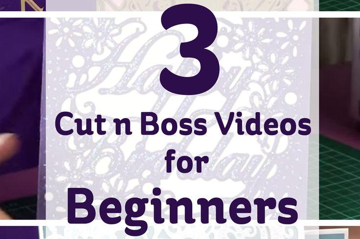 3 Cut n Boss Videos for Beginners #papercraft #emboss #diecutting