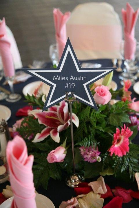 Dallas Cowboys Wedding Centerpiece