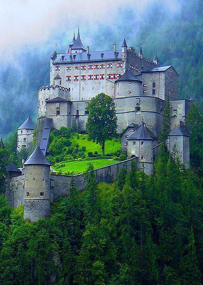 Hohenwerfen Castle in Werfen, Austria
