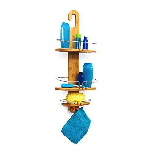 relaxdays duschregal aus bambus zum einh ngen hxbxt ca 71 x 29 - Moderne Badezimmer Mit Dusche Und2