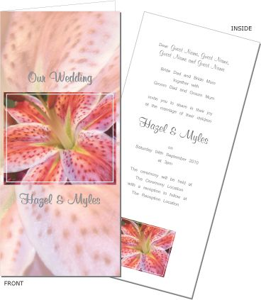 Bright and bold, this is a gorgeous wedding invitation. To order or view the collection go to: www.allyourinvites.com.au