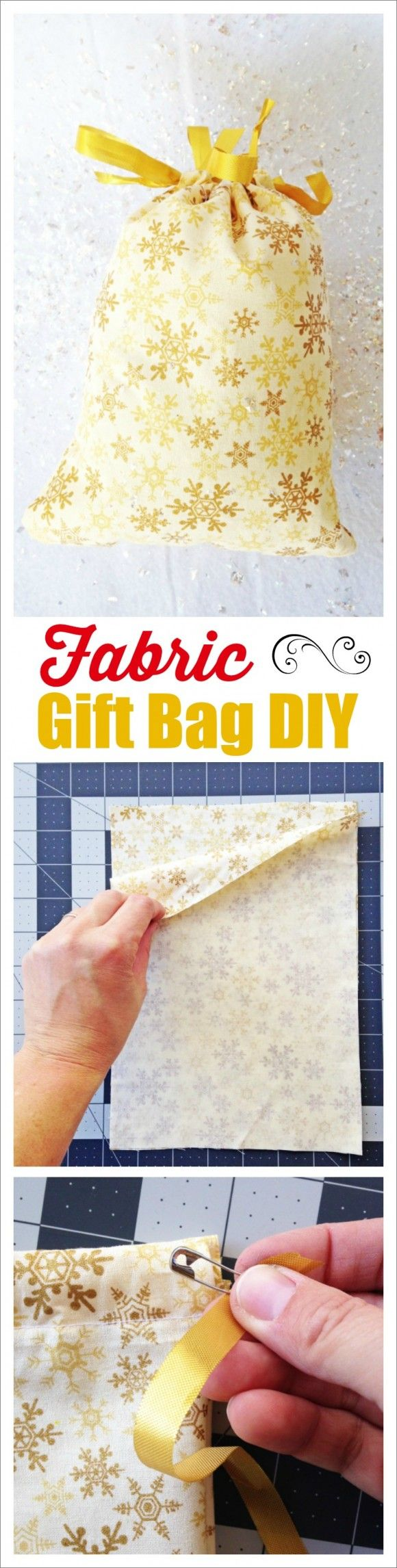 Fabric Gift Bag DIY