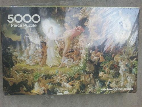 Vintage Falcon Deluxe Puzzle 5000 The Supreme Quarrel Oberon Titania Noel Paton!