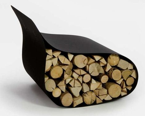 firewood rack and boxes | Modern Firewood Rack - Firewood Storage as Chair by AK47