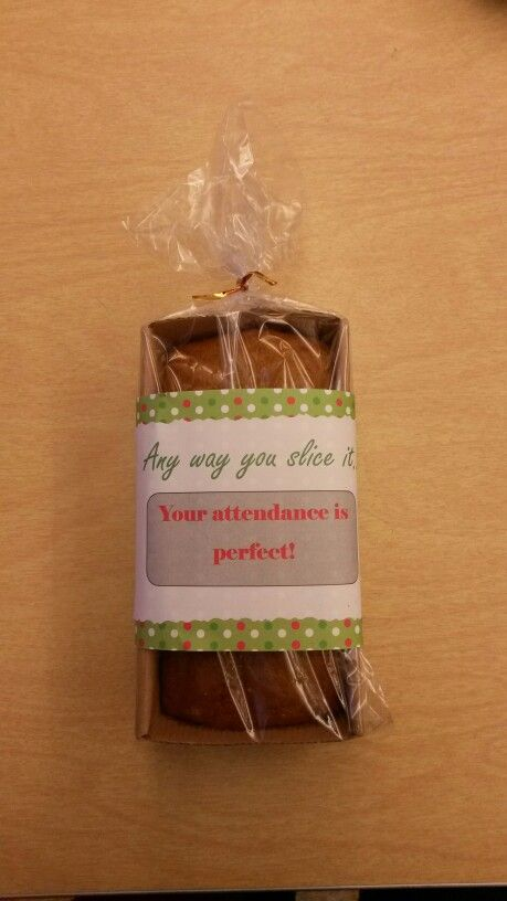 Perfect attendance gift