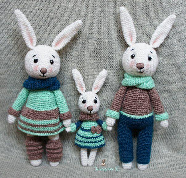 knitted rabbit amigurumi crochet scheme