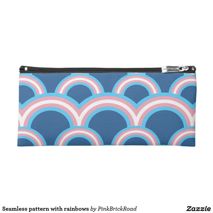 Seamless pattern with rainbows pencil case