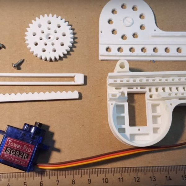 3D Printed RC Servo to Linear Actuator Conversion | Hackaday