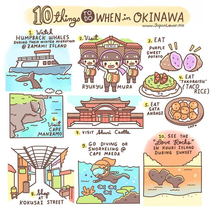 10 Things to do when in Okinawa  http://japanlover.me/cool/cool-japan-travel-guide/10-things-to-do-when-in-okinawa/