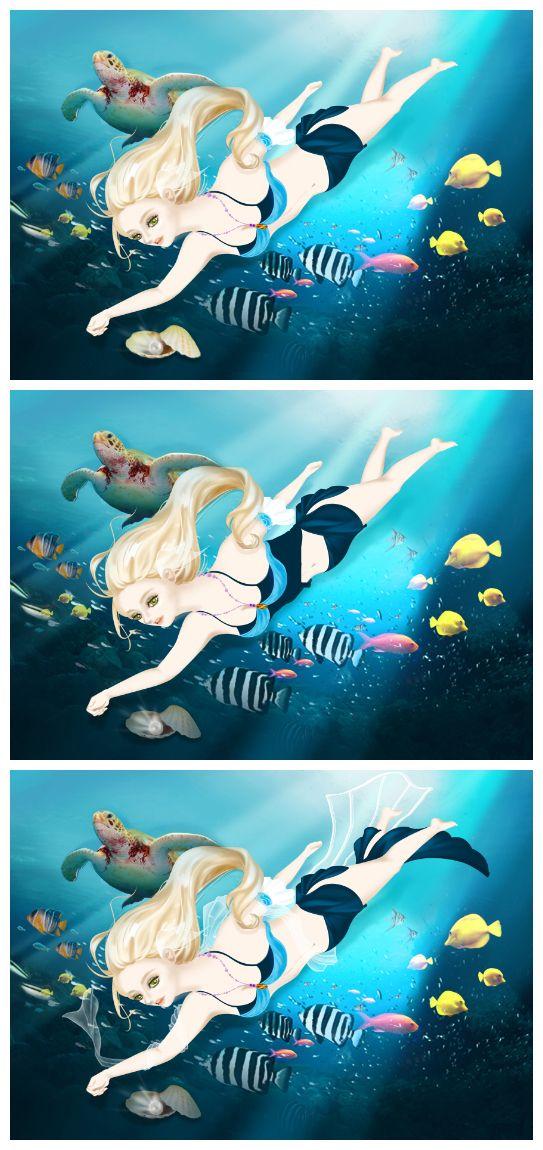 Mermaid on Behance