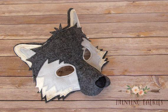 Amadeus el lobo Ártico máscara y cola pretenden por HuntingFaeries