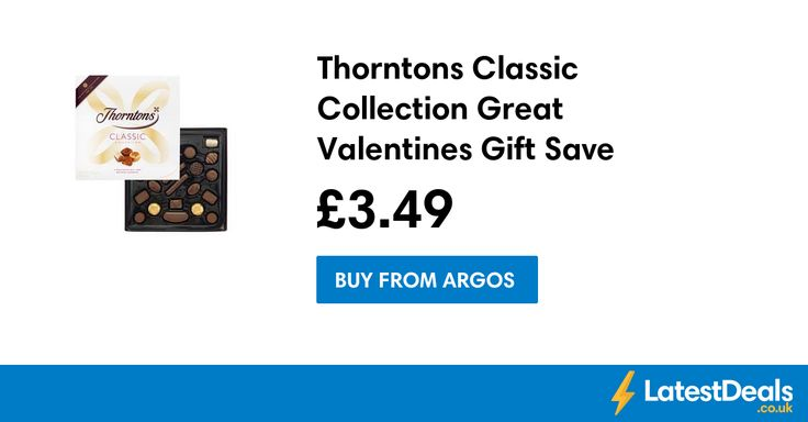 Thorntons Classic Collection Great Valentines Gift Save £3.51, £3.49 at Argos
