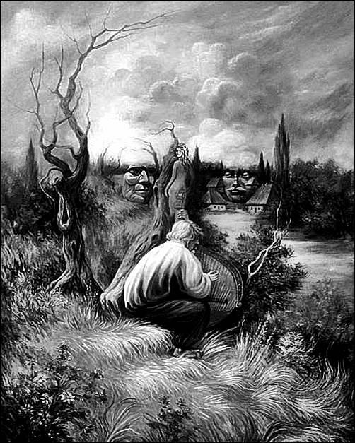 optical illusions hidden faces landscape illusion face imgur paintings painting van artists surreal double shuplyak oleg