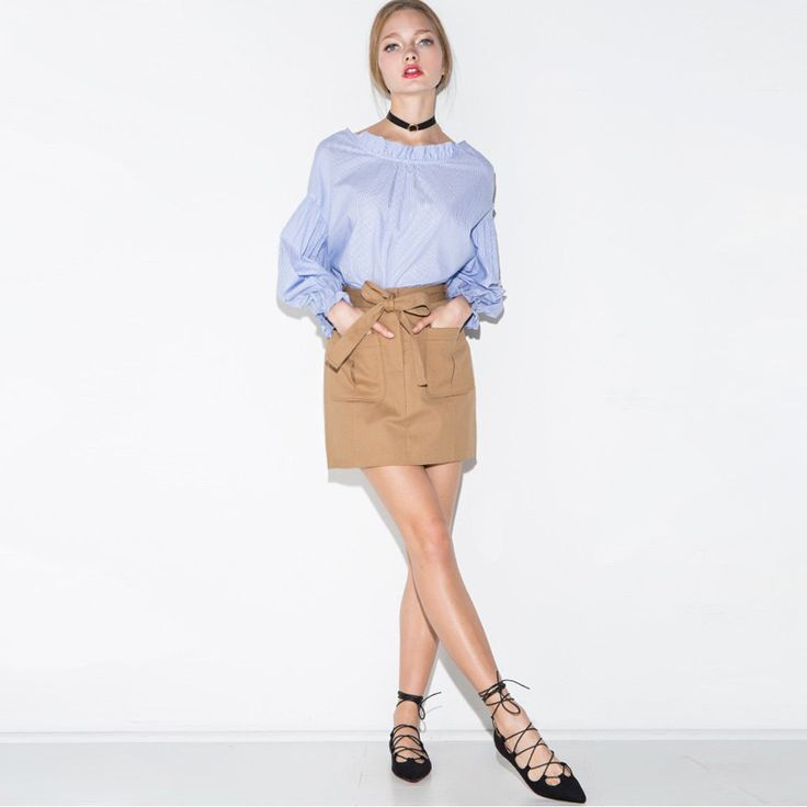 PLT Long Sleeve Ruffle Blouse