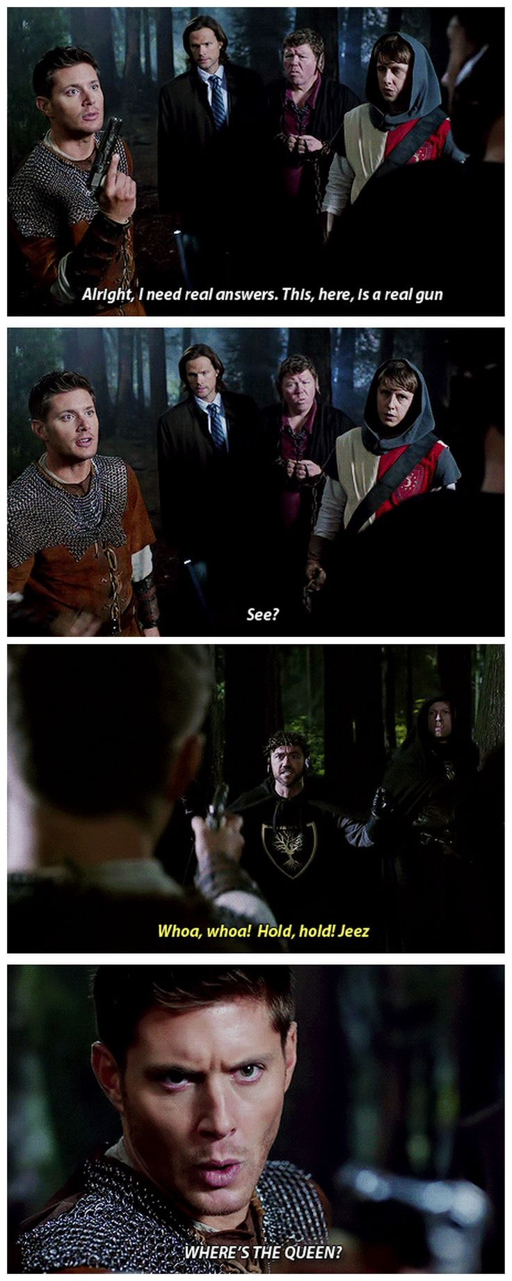 [gifset] 8x11 LARP and The Real Girl #SPN #Dean #Sam <--Don't screw with Dean when it comes to Charlie