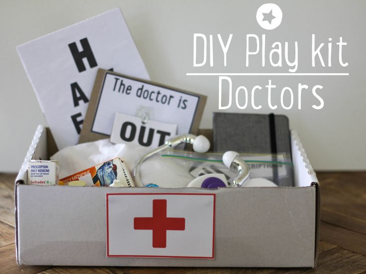 Put together a cute doctors play kit. Includes *free printables* to really bring your kit to life.
