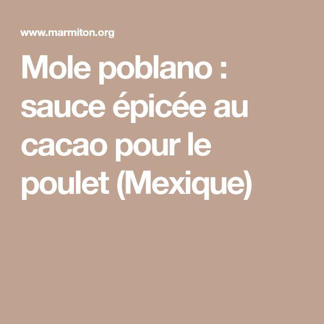 Mole poblano : sauce épicée au cacao pour le poulet (Mexique)