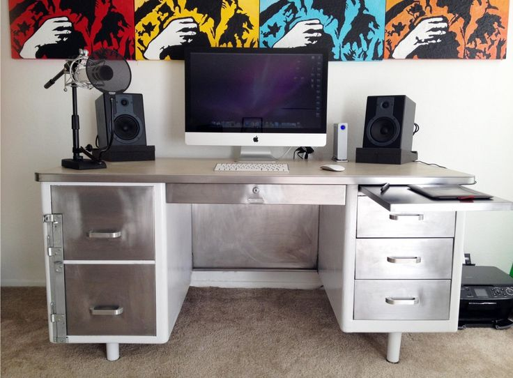Steel Tanker Desk Transformation | The Office Stylist