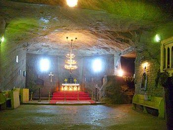 A salt church in the former Romanian salt mine (Cacica)