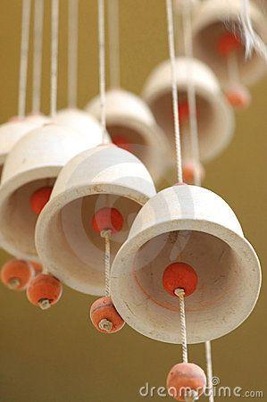 bells and wind chimes | ceramic garden art | Pinterest ...