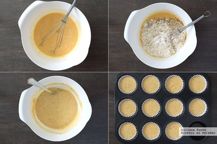 Cupcakes sencillos de albaricoque. Pasos