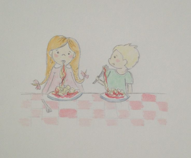 Week 19 - Eat, most of the time Lilly is very lady like but when she eats spaghetti she is even messier than Harry xxx: