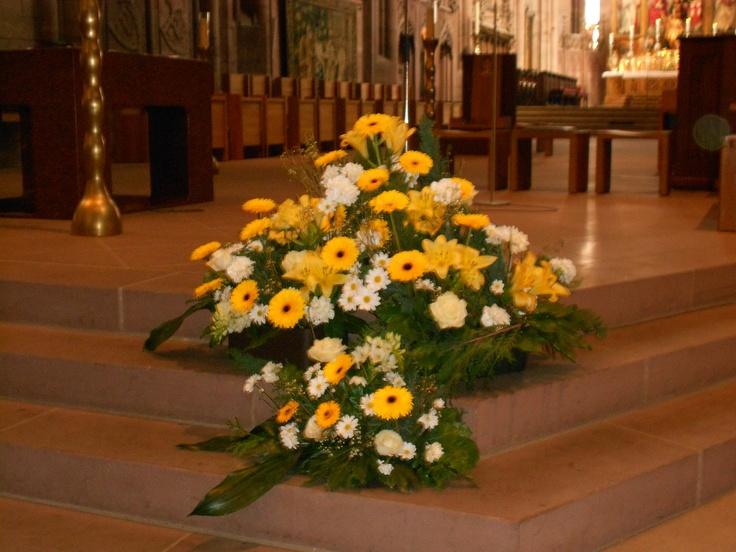 Wedding Flower Arrangements Church