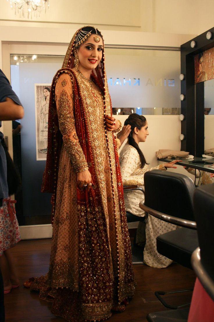 Pakistani Bridal Wear. Bunto kazmi. #red #pakistanibride #baraat #desi #wedding