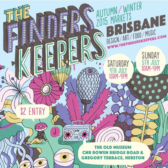 I am very excited to announce that Curiously Obsessed will be debuting at the Finders Keepers markets in Brisbane!!! The two day event will be held on July 4th + 5th so make sure you come down and say hi!