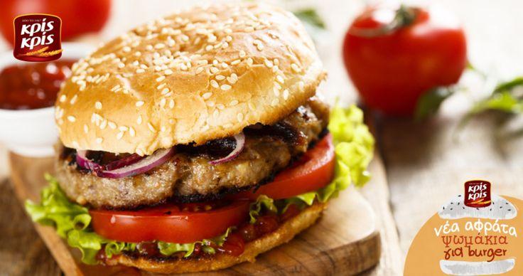 Σπιτικό, ζουμερό, αφράτο burger με Κρις Κρις... για να τους τρέχουν τα σάλια!