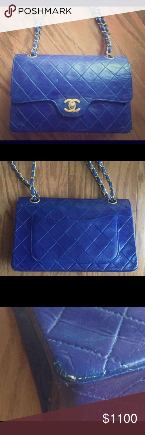 Chanel handbag superb vintage chanel bag vintage leather - Auth Vintage Chanel Double Flap Shoulder Bag From 1985 It Was Dyed Before With