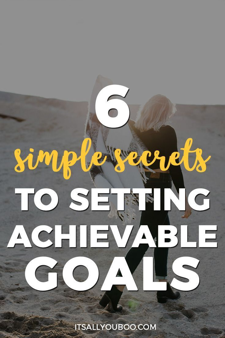 Are you ready to finally achieve your goals? Here are the 6 simple secrets you need to set and achieve your goals. It's time to go from intentions to actions! Plus, take your goal setting to the next level with the FREE printable Achievable Goals Workbook.