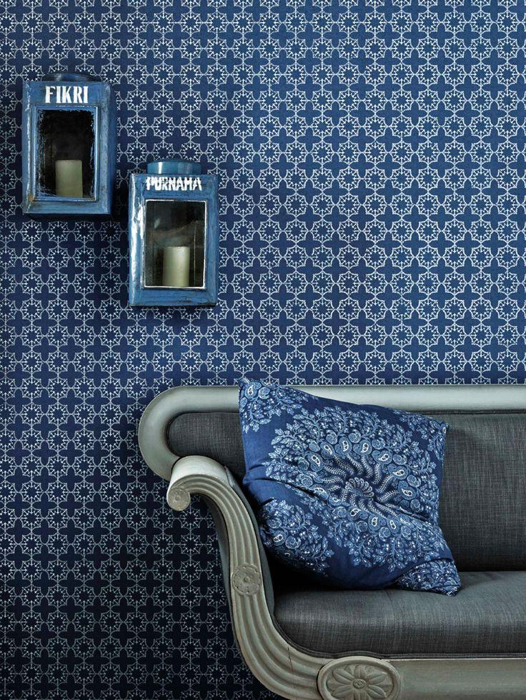 Anchor Tile Wallpaper - Marine