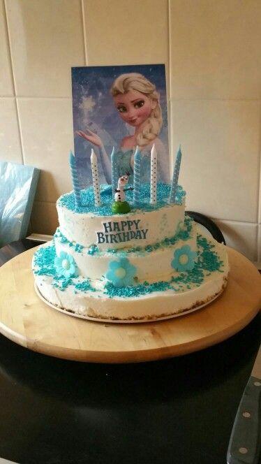 frozen verjaardagstaart (kwarktaart)