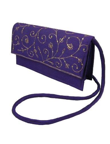 Mujeres bolsos y carteras de tela de seda bordado a mano: Amazon.es: Zapatos y complementos