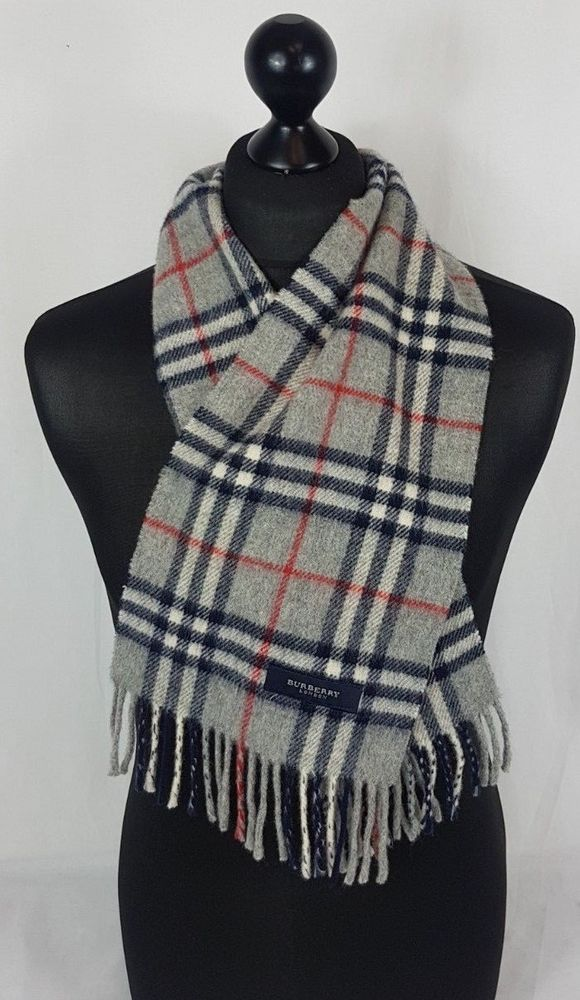 937d6688fd784 BURBERRY SCARF 100% LAMBSWOOL MADE IN ENGLAND GREY #A621 #fashion #clothing  #shoes #accessories #womensaccessories #scarveswraps (ebay link)