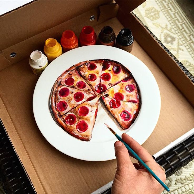 Delicious Paintings on Dinner Plates – Fubiz Media: