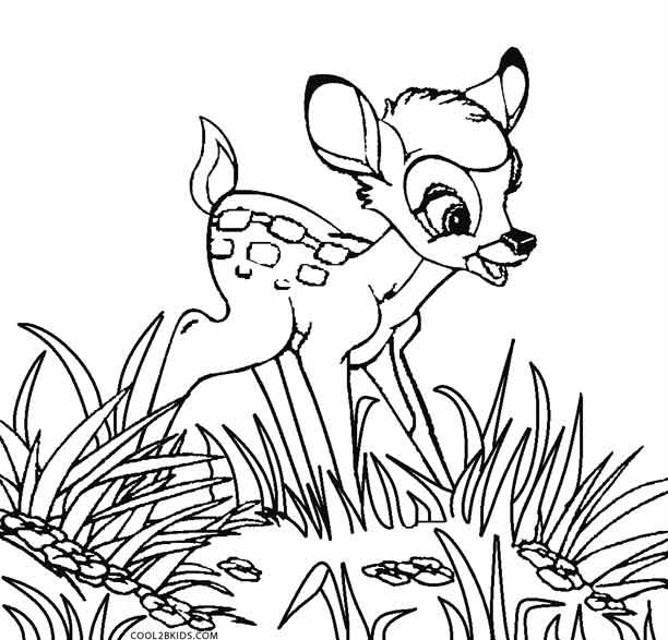201 best images about Bambi 39 s coloring page on Pinterest