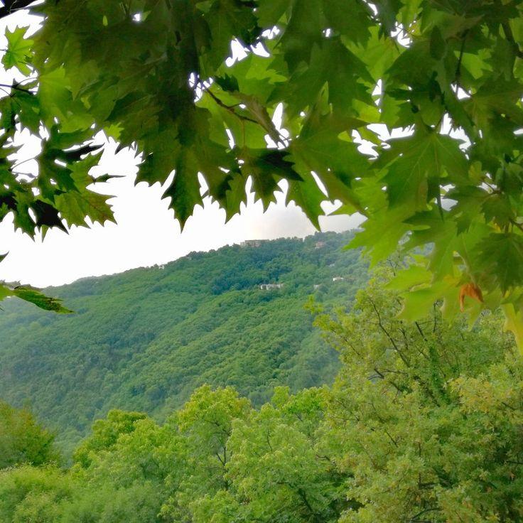 Mouresi village, summer rain !