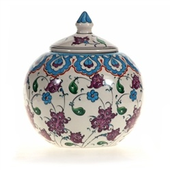 Turkish Ceramics - Mediterranean Sea Round Jar.