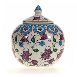 Turkish Ceramics - Mediterranean Sea Round Jar.