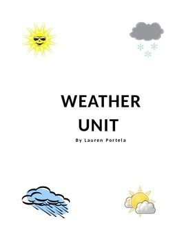 This unit was created to teach students about the daily weather, weather vocabulary, appropriate clothing items to wear according to the weather, and accessing and understanding the weather forecast on the computer and television. It contains flash cards, worksheets, a weekly weather log, and  memory games. Some of the worksheets contain two different levels ( differentiated to meet the needs and levels of students).