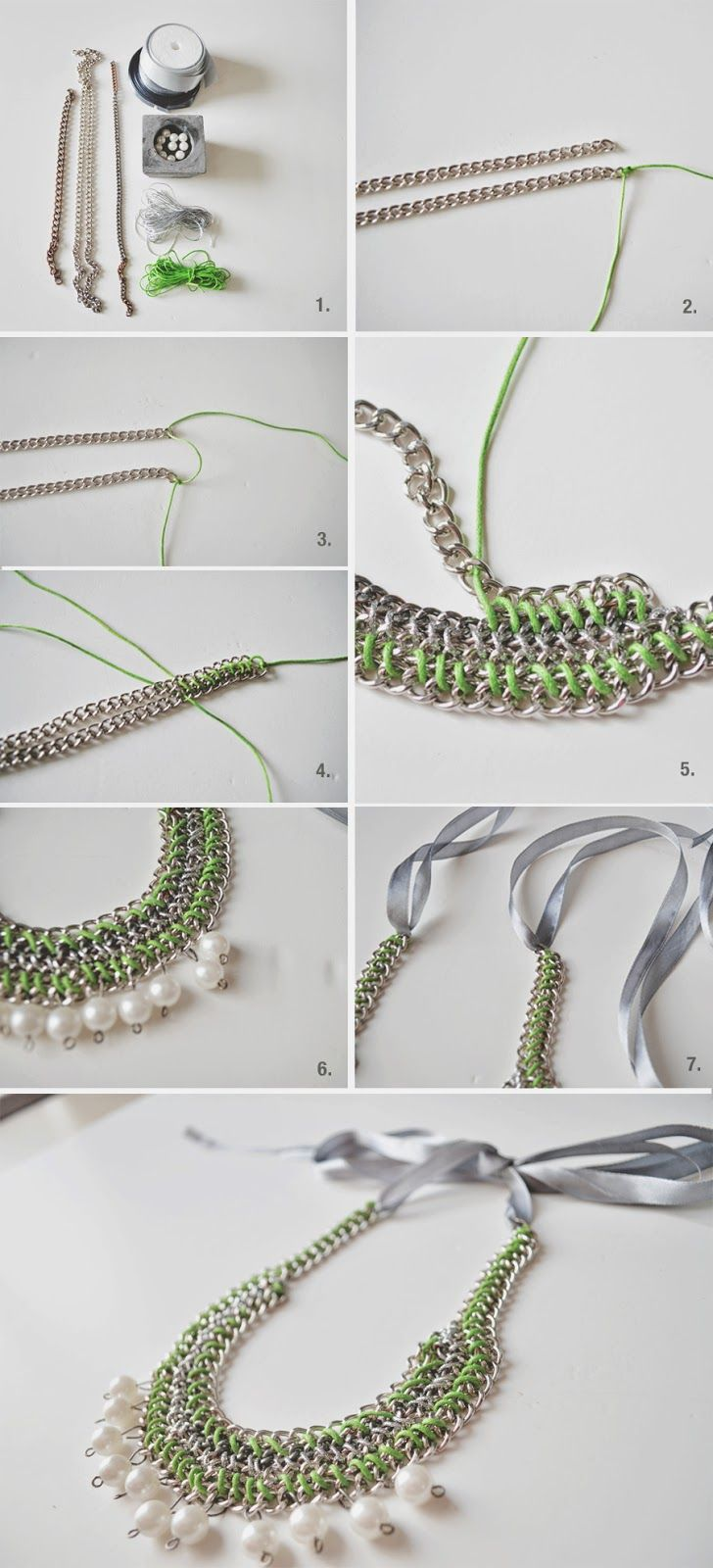 DIY | STATMENT NECKLACE--I would love to try this! I sense a new hobby in the works!!!