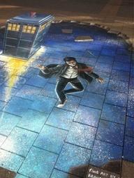 Doctor Who street art in Adelaide, Australia