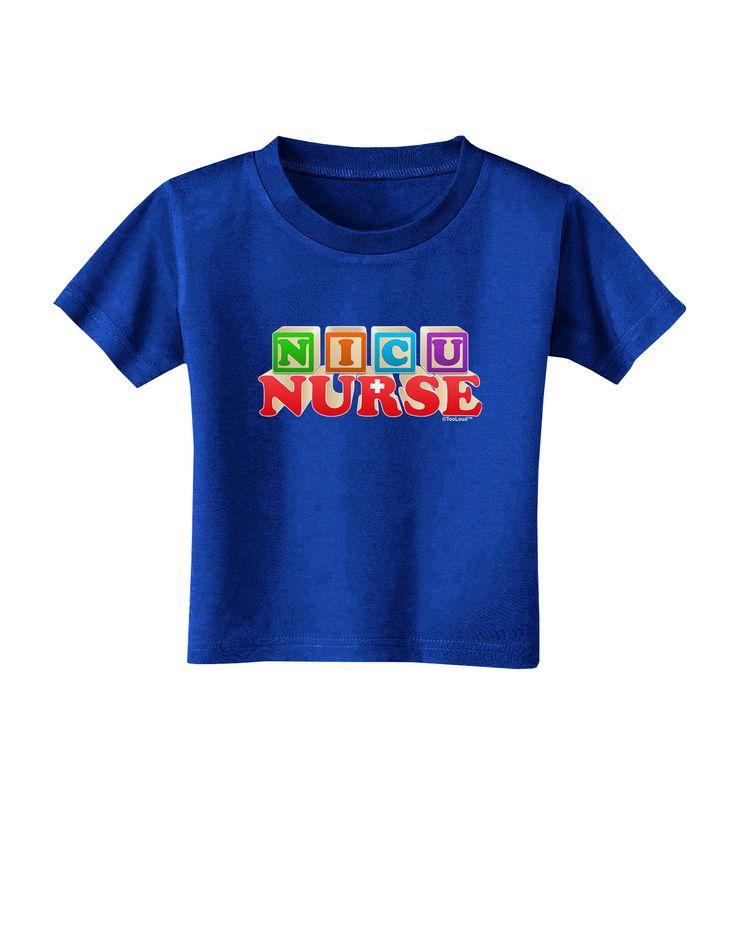 TooLoud Nicu Nurse Toddler T-Shirt Dark