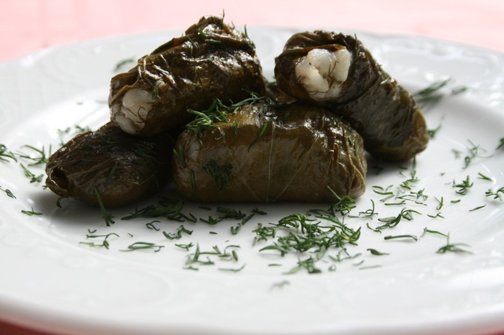 Stuffed fresh wine leaves with snails and rice      Ingredients & Preparation at:  http://fereikos-gefsis.com/index.php?option=com_k2=item=item=85=182=en
