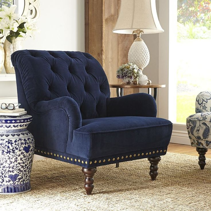 Best Navy Blue Velvet Armchair Velvet Armchairs And Pier 1 640 x 480